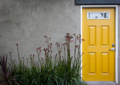 Apartment Entrance Yellow Door